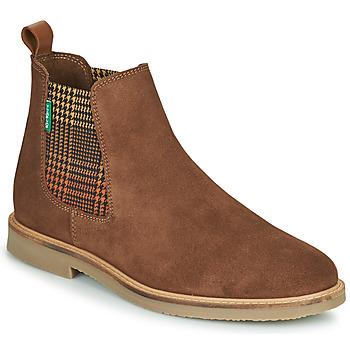 Sapatos Mulher Botas baixas Kickers TYGA Camel