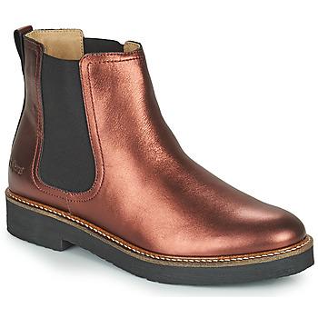 Sapatos Mulher Botas baixas Kickers OXFORDCHIC Violeta
