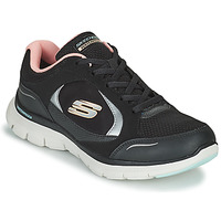 Sapatos Mulher Sapatilhas Skechers FLEX APPEAL 4.0 Preto / Rosa