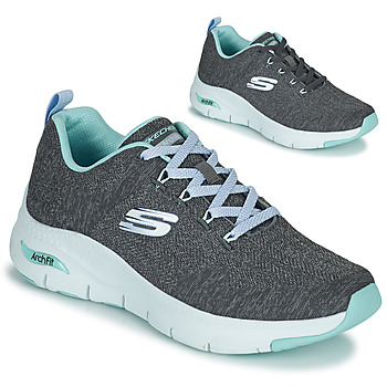 Sapatos Mulher Sapatilhas Skechers ARCH FIT Cinza / Azul