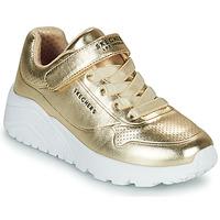Sapatos Rapariga Sapatilhas Skechers UNO LITE Ouro