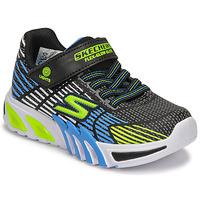 Sapatos Rapaz Sapatilhas Skechers FLEX-GLOW ELITE Preto / Azul
