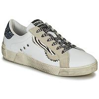 Sapatos Mulher Sapatilhas Meline NK139 Branco / Glitter / Azul
