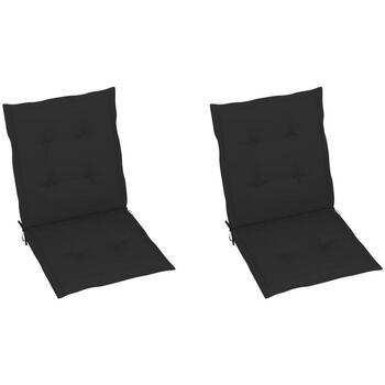 Casa Almofada de cadeira VidaXL Almofadão de cadeira 100 x 50 x 4 cm Preto