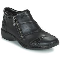 Sapatos Mulher Botas baixas Rieker SALOMA Marinho