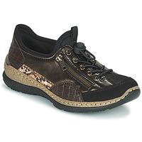 Sapatos Mulher Sapatilhas Rieker ALINDA Bronze / Preto