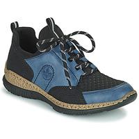 Sapatos Mulher Sapatilhas Rieker MEDONNA Azul / Preto