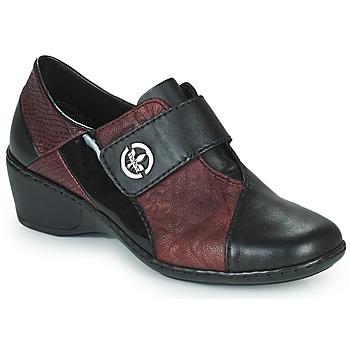Sapatos Mulher Mocassins Rieker HANTAR Preto / Bordô