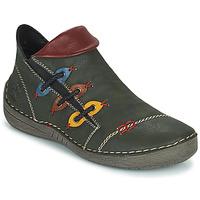 Sapatos Mulher Botas baixas Rieker GIMMA Verde / Vermelho / Amarelo