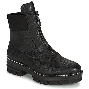 Sapatos Mulher Botas baixas Rieker QUAMIN Preto