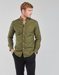 Textil Homem Camisas mangas comprida Polo Ralph Lauren DRISSY Cáqui
