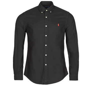Textil Homem Camisas mangas comprida Polo Ralph Lauren CAMISETA Preto