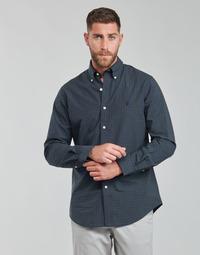 Textil Homem Camisas mangas comprida Polo Ralph Lauren RENIMA Verde / Azul