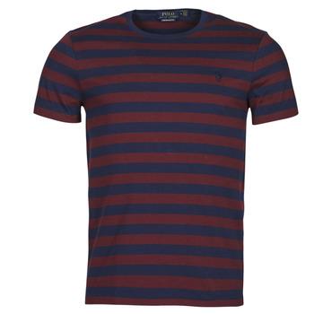 Textil Homem T-Shirt mangas curtas Polo Ralph Lauren POLINE Marinho / Bordô