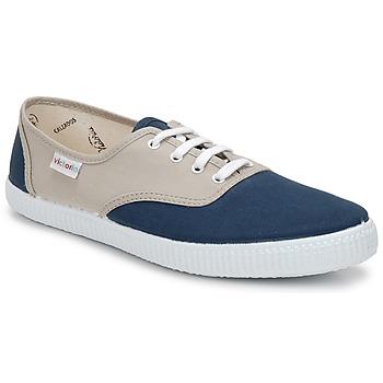 Sapatos Sapatilhas Victoria INGLESA BICOLOR Bege / Petróleo