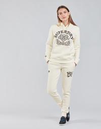 Textil Mulher Calças de treino Superdry PRIDE IN CRAFT JOGGER Cru