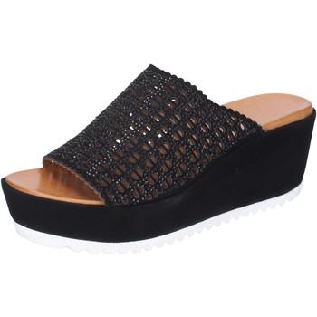 Sapatos Mulher Chinelos Femme Plus BJ890 Preto