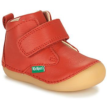 Sapatos Criança Botas baixas Kickers SABIO Vermelho