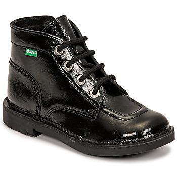 Sapatos Rapariga Botas baixas Kickers KICK COLZ Preto
