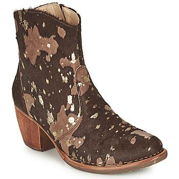 Sapatos Mulher Botins Neosens MUNSON Castanho / Ouro