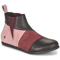 Sapatos Mulher Botas baixas Art LARISSA Violeta / Preto