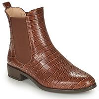 Sapatos Mulher Botas baixas Unisa BOYER Camel