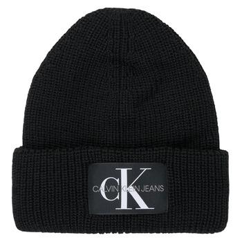 Acessórios Mulher Gorro Calvin Klein Jeans MONOGRAM BEANIE WL Preto