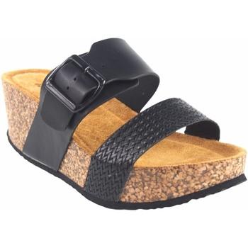 Sapatos Mulher Chinelos Isteria Sandalia señora   21042 negro Preto
