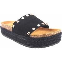 Sapatos Mulher Chinelos Isteria Sandalia señora   21053 negro Preto