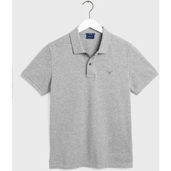 Textil Homem Polos mangas curta Gant Polo Original piqué Cinza