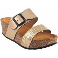 Sapatos Mulher Chinelos Isteria Sandalia señora   21042 platino Ouro