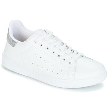 Sapatos Mulher Sapatilhas Yurban SATURNA Branco / Prateado