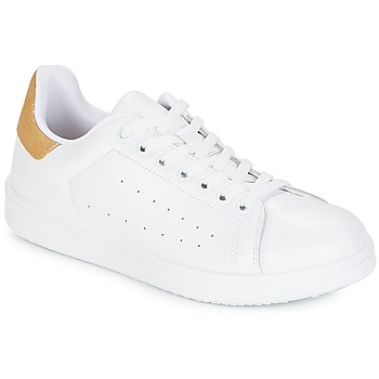 Sapatos Mulher Sapatilhas Yurban SATURNA Branco / Dourado