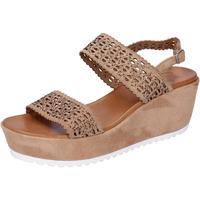 Sapatos Mulher Sandálias Femme Plus BJ895 Castanho