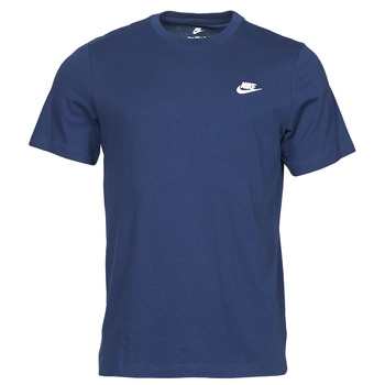 Textil Homem T-Shirt mangas curtas Nike NIKE SPORTSWEAR CLUB Azul / Branco