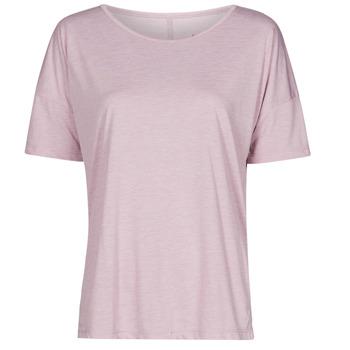 Textil Mulher T-Shirt mangas curtas Nike NIKE YOGA Violeta