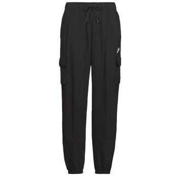 Textil Mulher Calças de treino Nike W NSW ESSNTL FLC MR CRGO PNT Preto / Branco