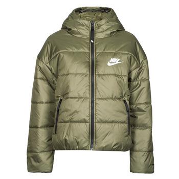 Textil Mulher Quispos Nike W NSW TF RPL CLASSIC HD JKT Cáqui / Branco