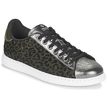 Sapatos Mulher Sapatilhas Victoria TENIS LEOPARDO Cáqui