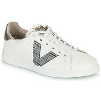 Sapatos Mulher Sapatilhas Victoria TENIS PIEL VEGANA Branco / Cinza