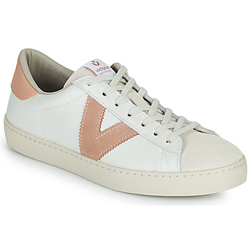 Sapatos Mulher Sapatilhas Victoria BERLIN PIEL CONTRASTE Branco / Rosa