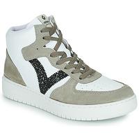 Sapatos Mulher Sapatilhas Victoria SIEMPRE BOTIN SERRAJE Branco / Cáqui