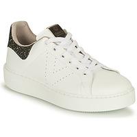 Sapatos Mulher Sapatilhas Victoria UTOPIA VEGANA GLITTER Branco / Preto
