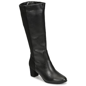 Sapatos Mulher Botas Spot on F50366-BLACK Preto