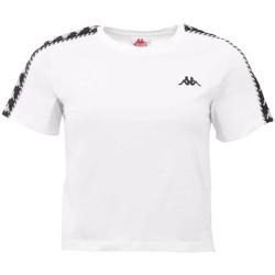 Textil Mulher T-Shirt mangas curtas Kappa Inula T-Shirt Blanc