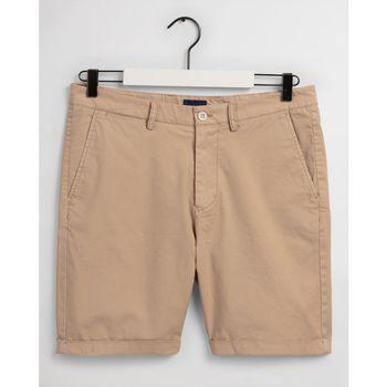 Textil Homem Shorts / Bermudas Gant CALÇÕES REGULAR FIT Bege