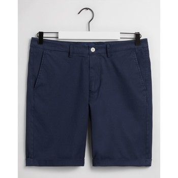Textil Homem Shorts / Bermudas Gant CALÇÕES REGULAR FIT Azul