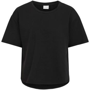 Textil Mulher T-Shirt mangas curtas Vila  Negro