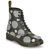 Sapatos Mulher Botas baixas Dr Martens 1460 Branco / Cinza