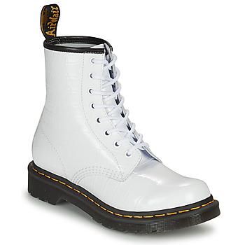 Sapatos Mulher Botas baixas Dr Martens 1460 W Branco